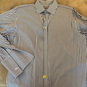 f5bf778f23c Thomas PINK Dress Shirt Men's 17- 35 Blue